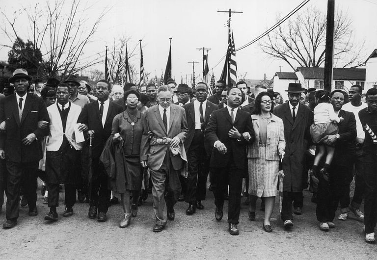 MLK leading march from Selma to Montgomery