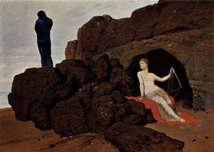 Odysseus und Kalypso, by Arnold Böcklin. 1883.