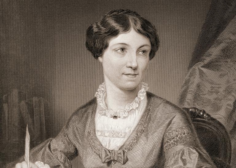 Illustration of Harriet Martineau, mid-nineteenth century.
