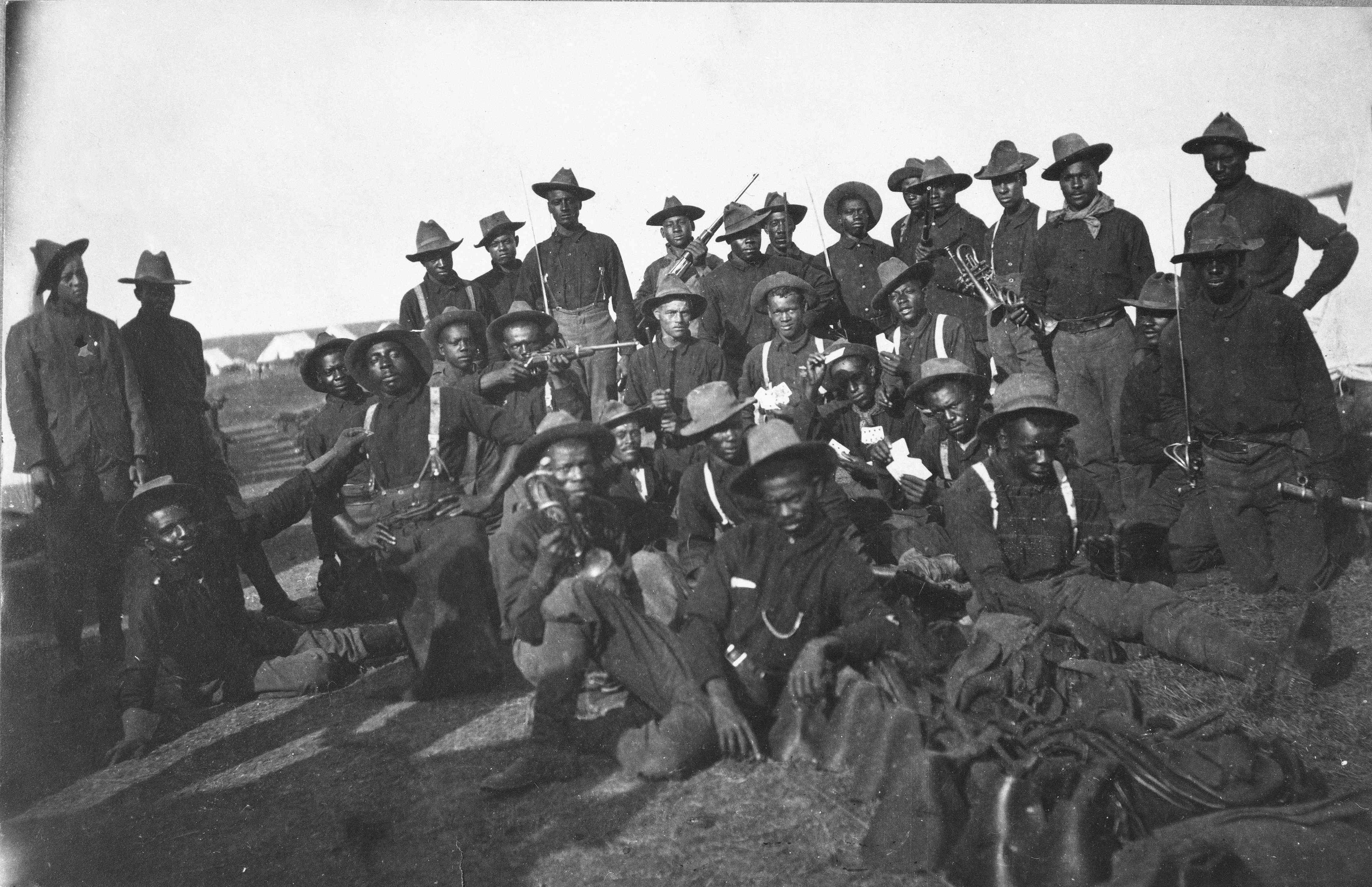Soldiers At Camp Wikoff