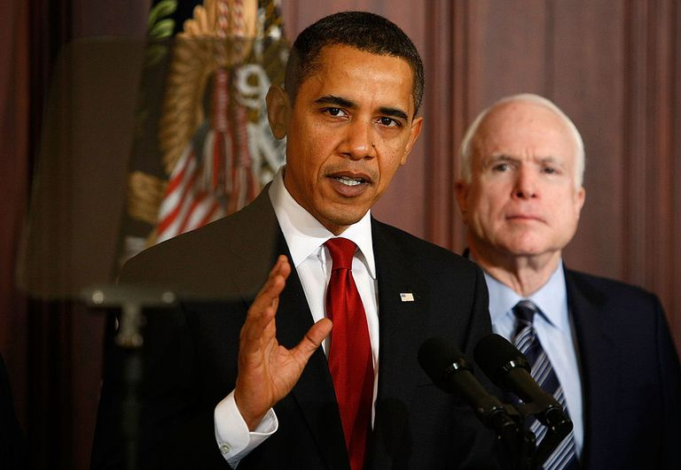 Barack Obama and John McCain in 2008