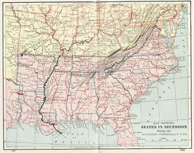 States in secession 1860