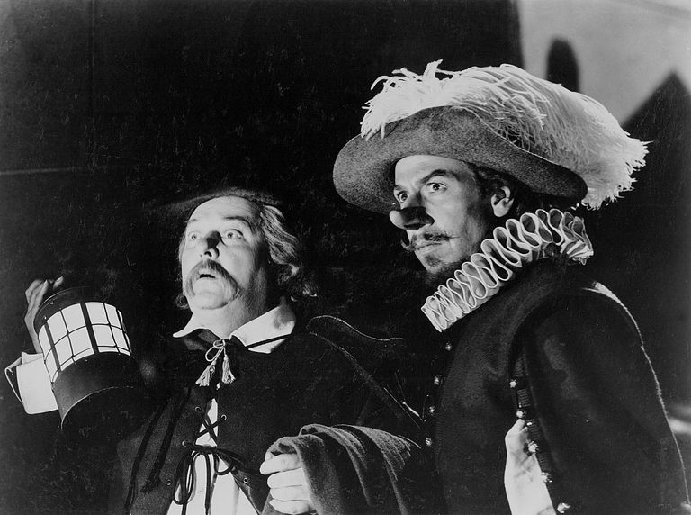 Still of the film version of Cyrano de Bergerac