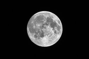 The far side of the full moon is dark.