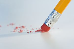 Pencil erasers stick to the graphite from a pencil without damaging paper too much.