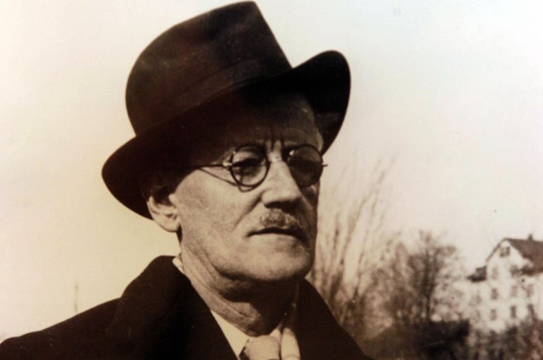 An undated photo of Irishman James Joyce
