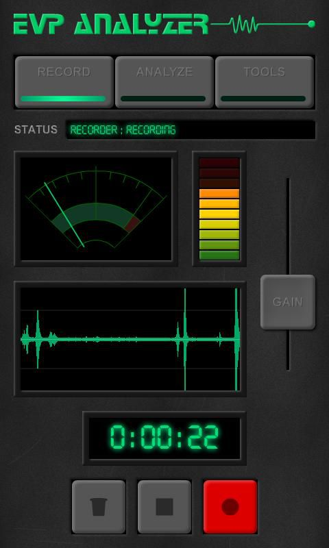 Ghost EVP Analyzer app