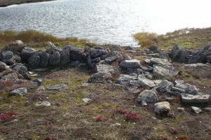 Thule tent ring, Nunavut, Canada