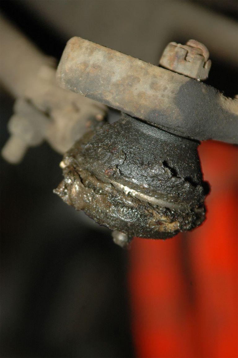 dirty car part