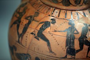 A Greek vase from 540 BCE
