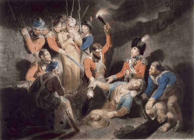British soldiers discover Tipu Sultan's body
