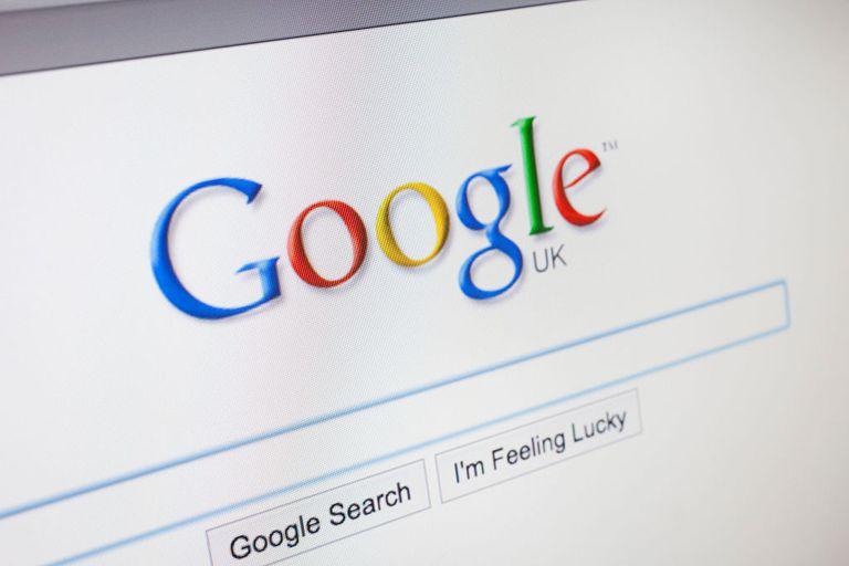 Logo de Google en página del buscardor