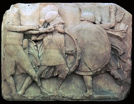 A stone relief