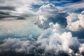 Clouds against a blue sky.