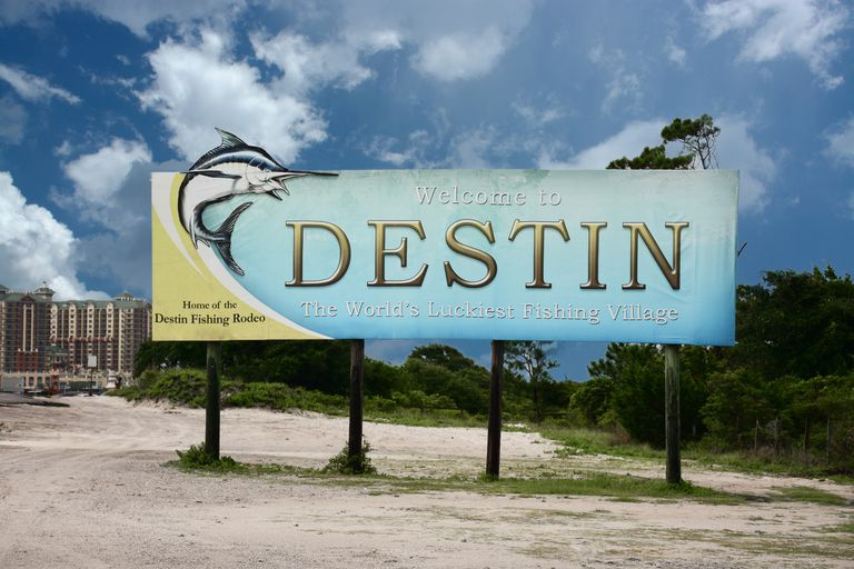 Destin, Florida welcome billboard
