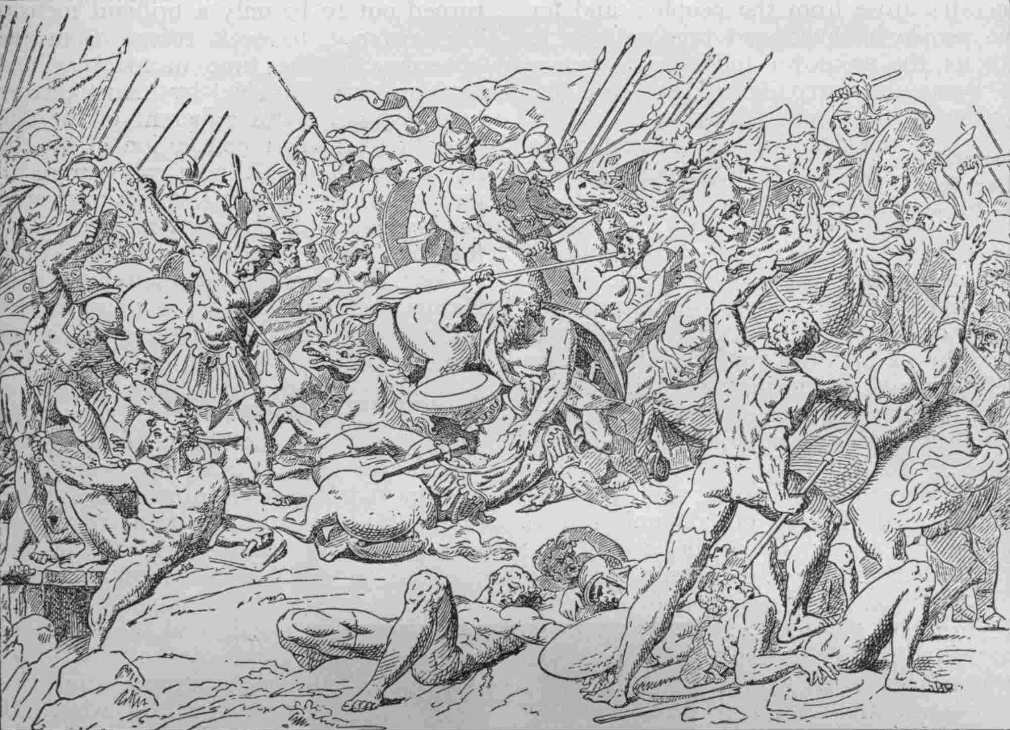 Socrates at the Battle of Potidaea