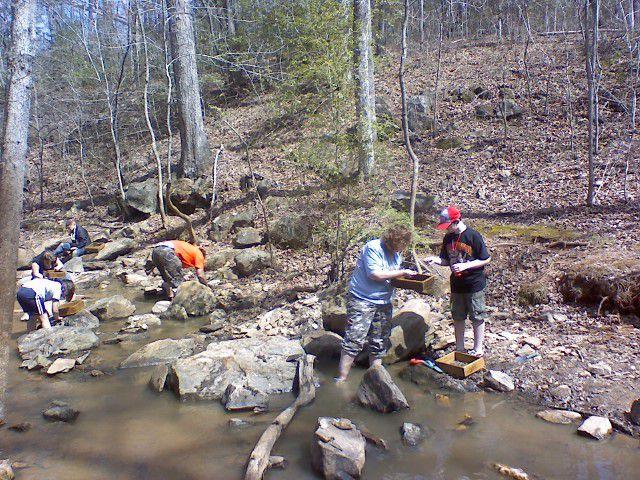 Creekin' at the Emerald Hollow Mine in North Carolina.