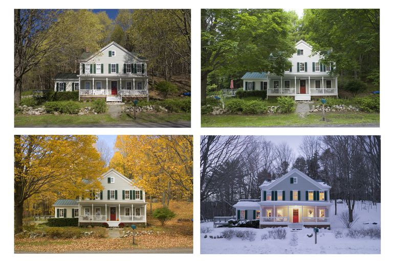 Same house through all four seasons