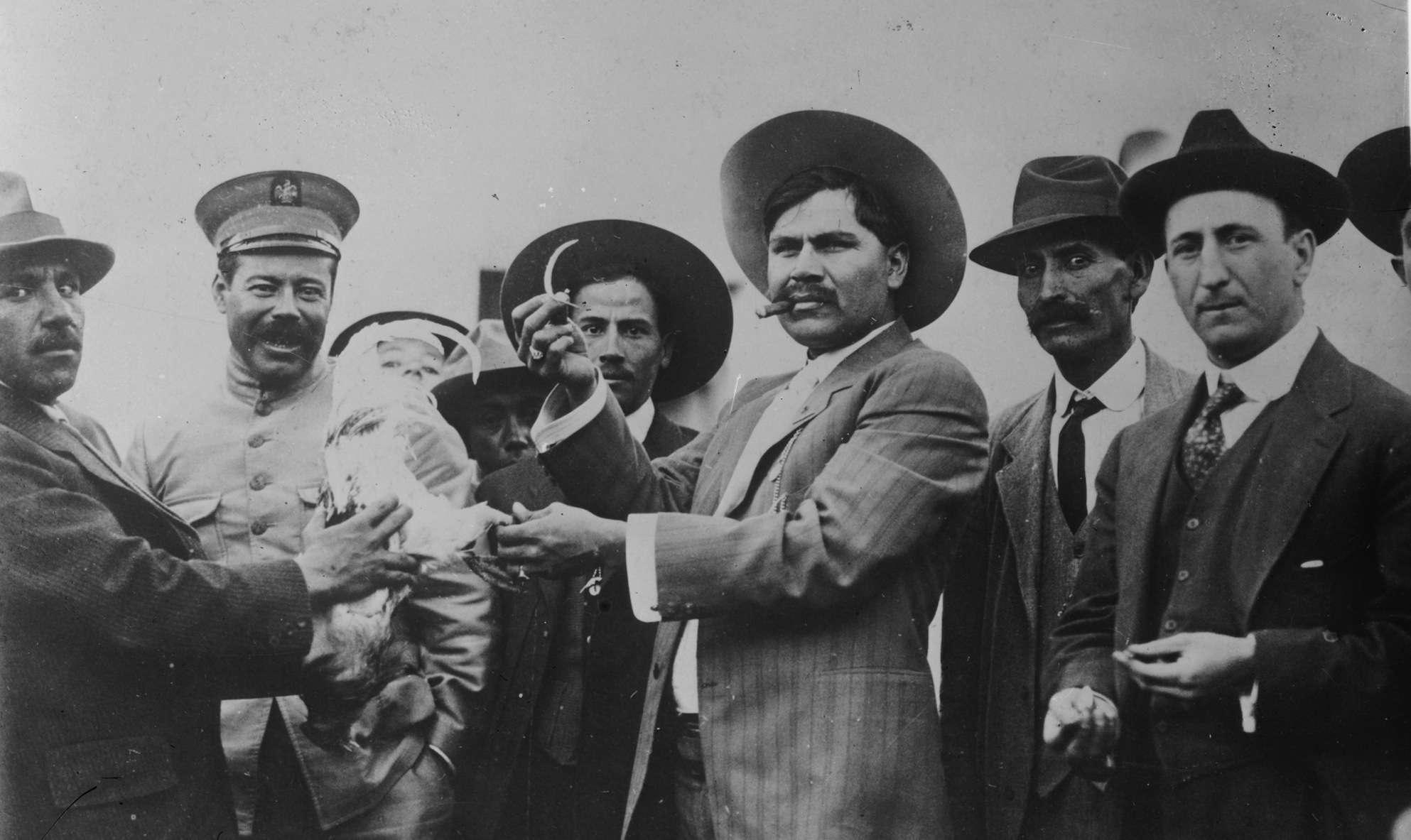 Pancho Villa (left) and chief executioner Rodolfo Fierro, known as el Carnicero