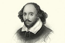 Drawing of William Shakespeare