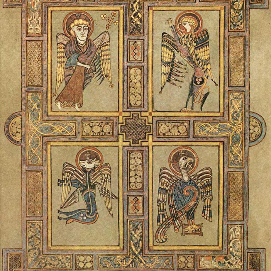 Symbols for Matthew, Mark, Luke and John