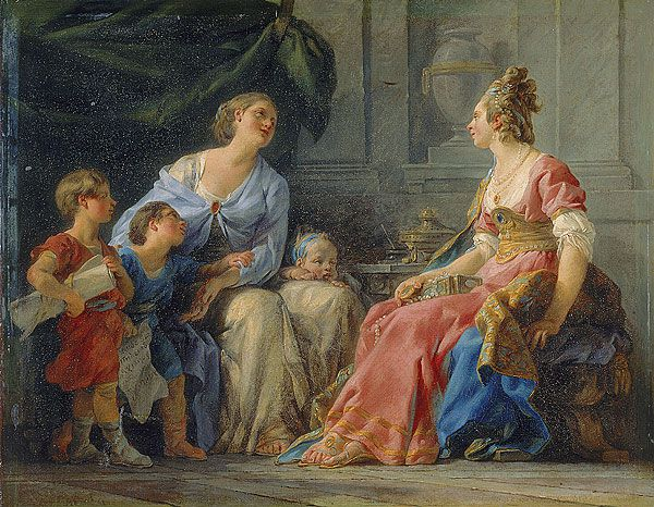 Cornelia, Mother of the Gracchi, by Noel Halle, 1779 (Musee Fabre)