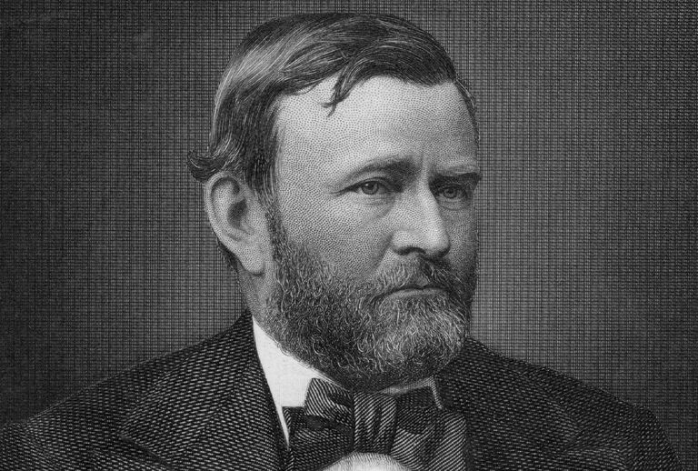 Engraved portrait of Ulysses S. Grant
