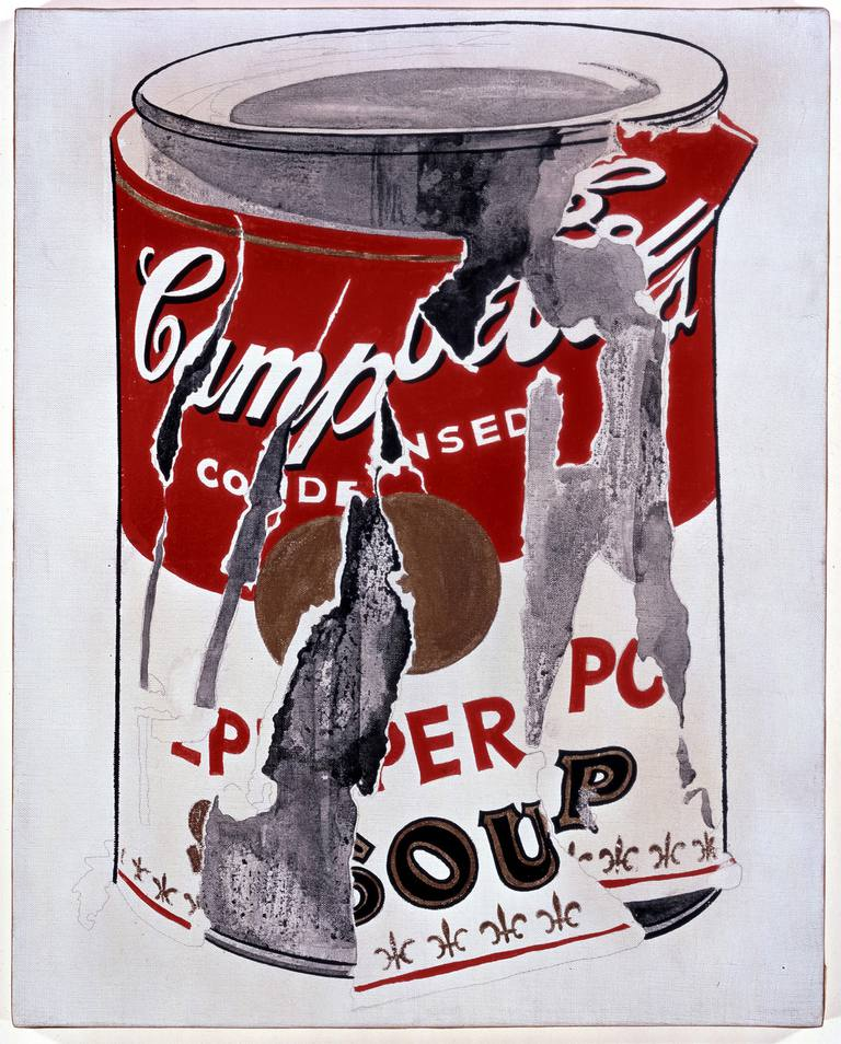 Andy Warhol's appropriated Campbell's soup artwork