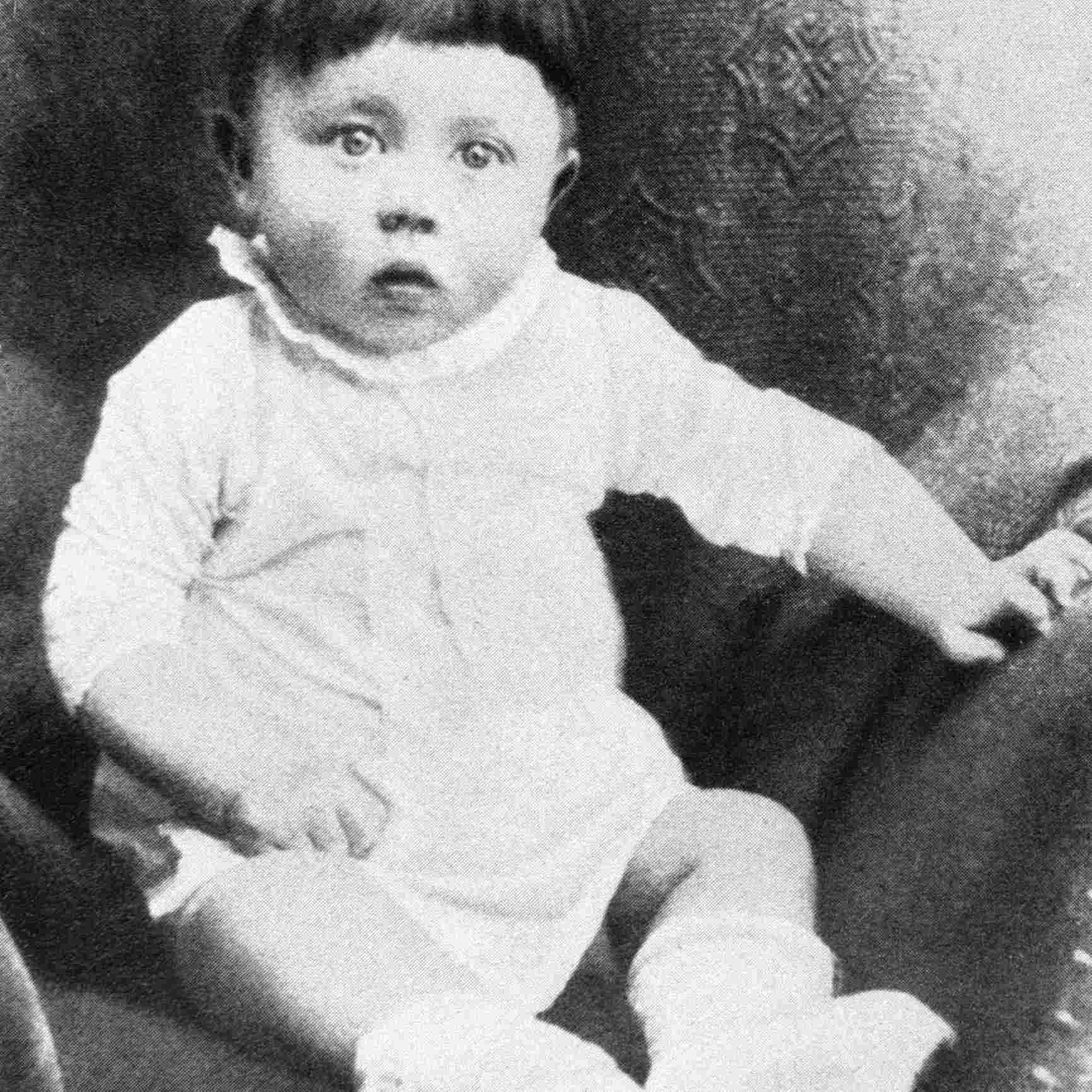 Baby portrait of Adolf Hitler