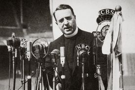 photo of radio priest Father Charles Coughlin