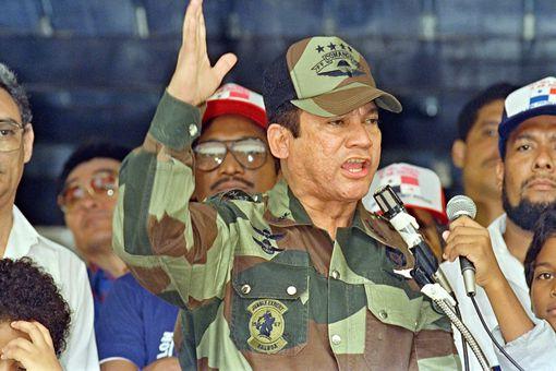 Panamanian general Manuel Noriega