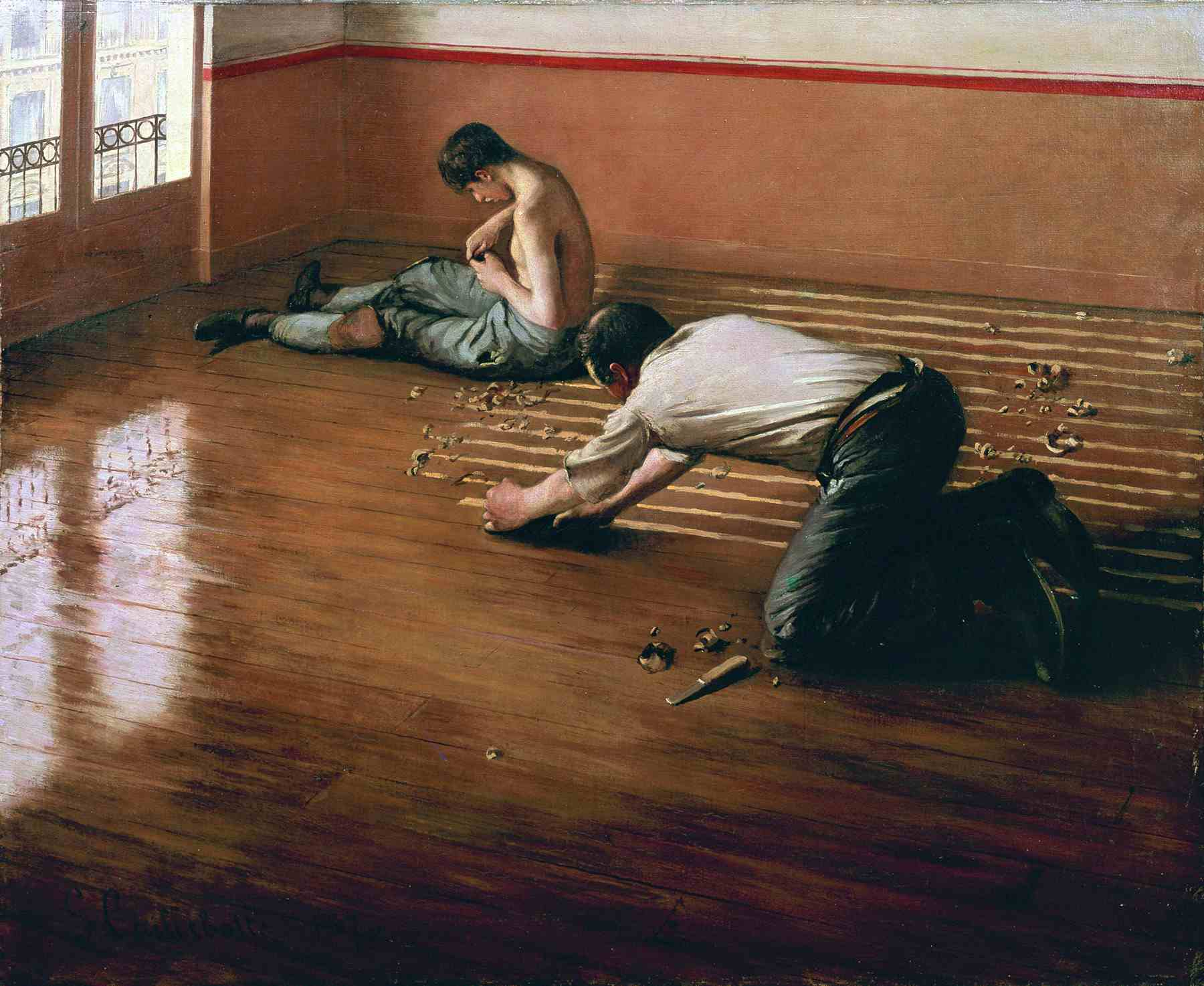 Gustave Caillebotte (French, 1848–1894). The Floor Scrapers, 1876. Oil on canvas. 31 1/2 x 39 3/8 in. (80 x 100 cm).