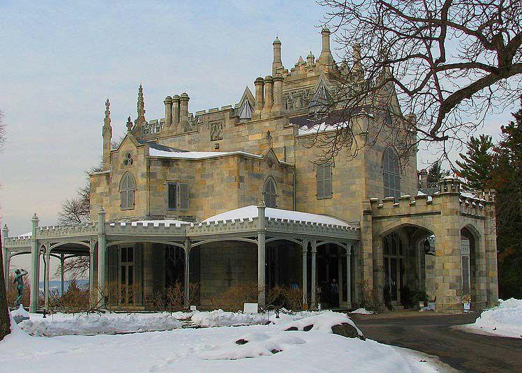 Lyndhurst à Tarrytown, New York est un exemple historique de l'architecture néo-gothique