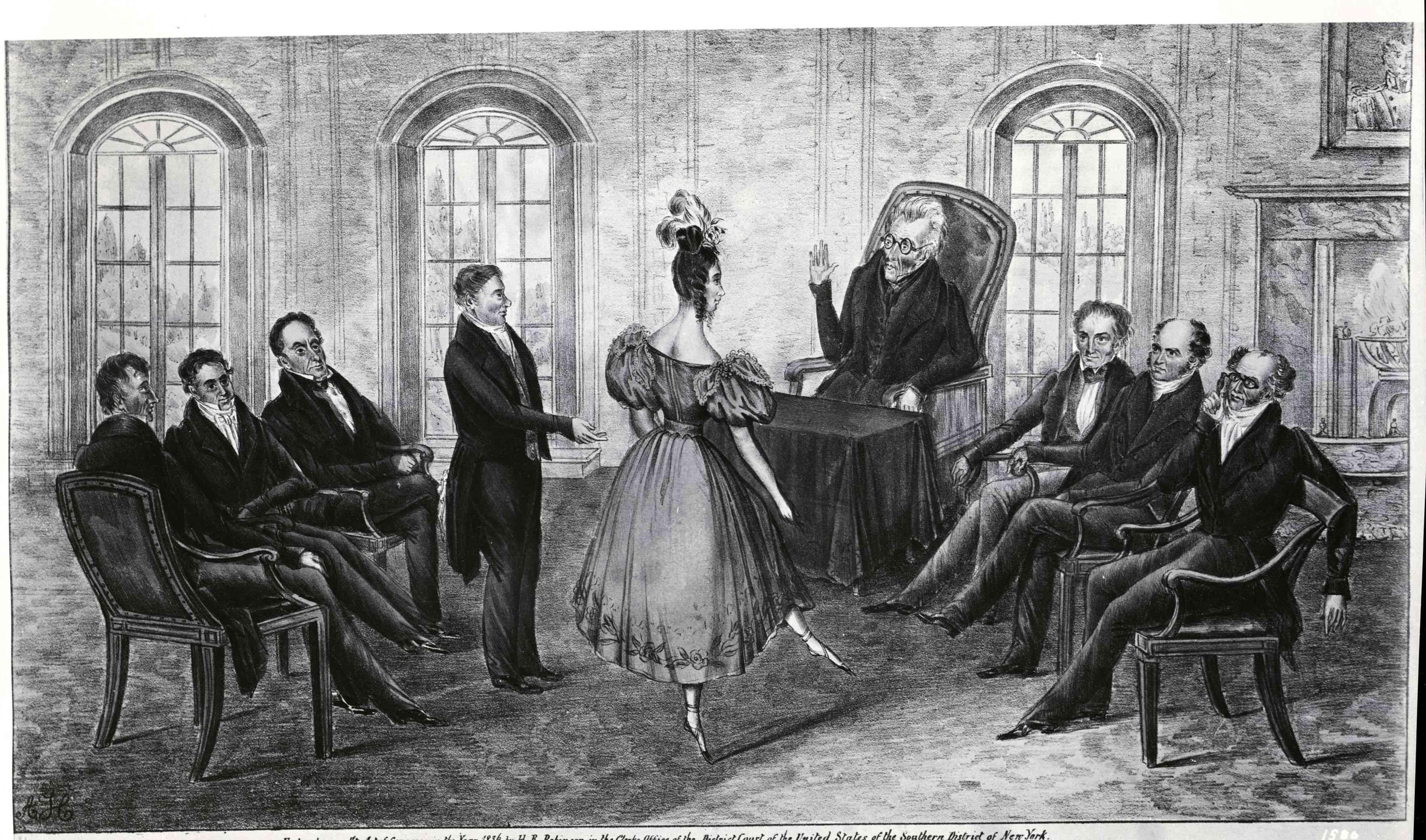Martin Van Buren And Andrew Jackson With Cabinet Officers
