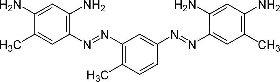 This is the chemical structure of vesuvine or bismarck brown Y.