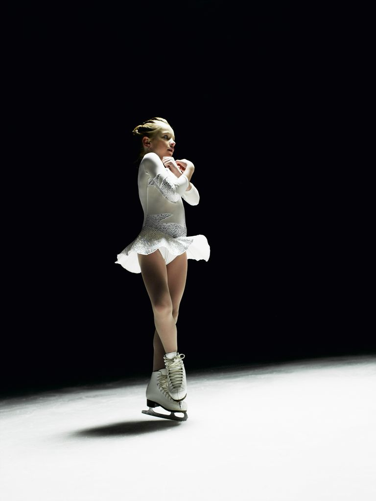 A Figure Skater Does a Spin