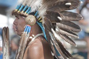 Native American man in head dress