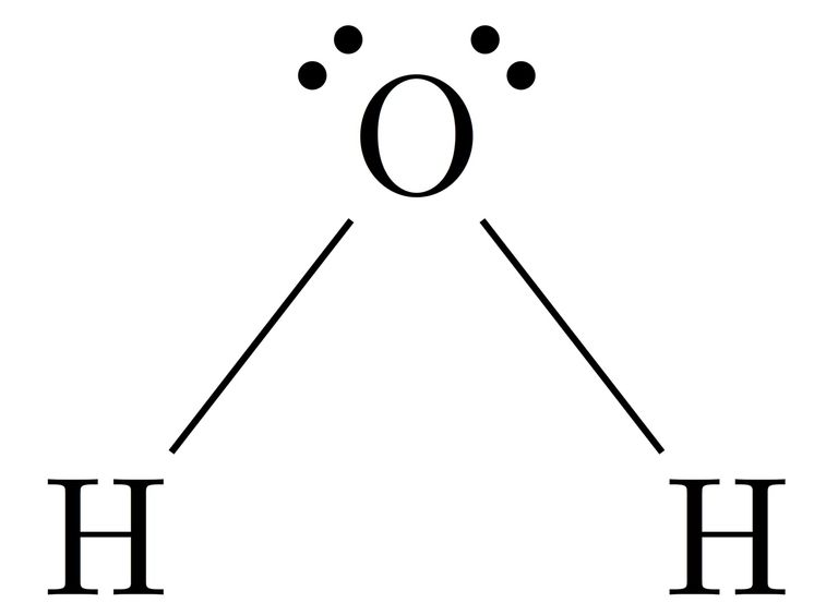 Lewis structure diagram on a white background.