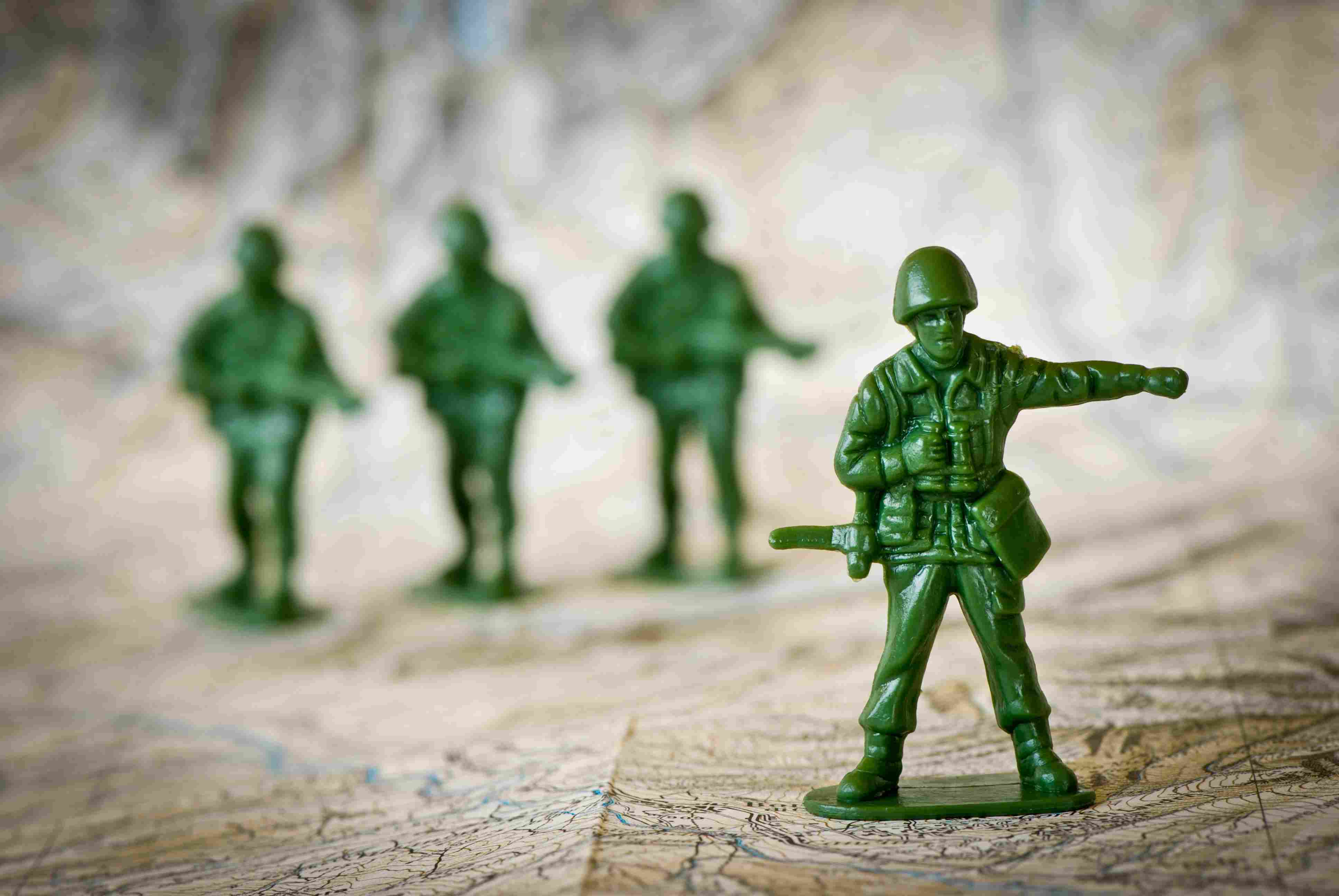 Toy soldiers war concepts