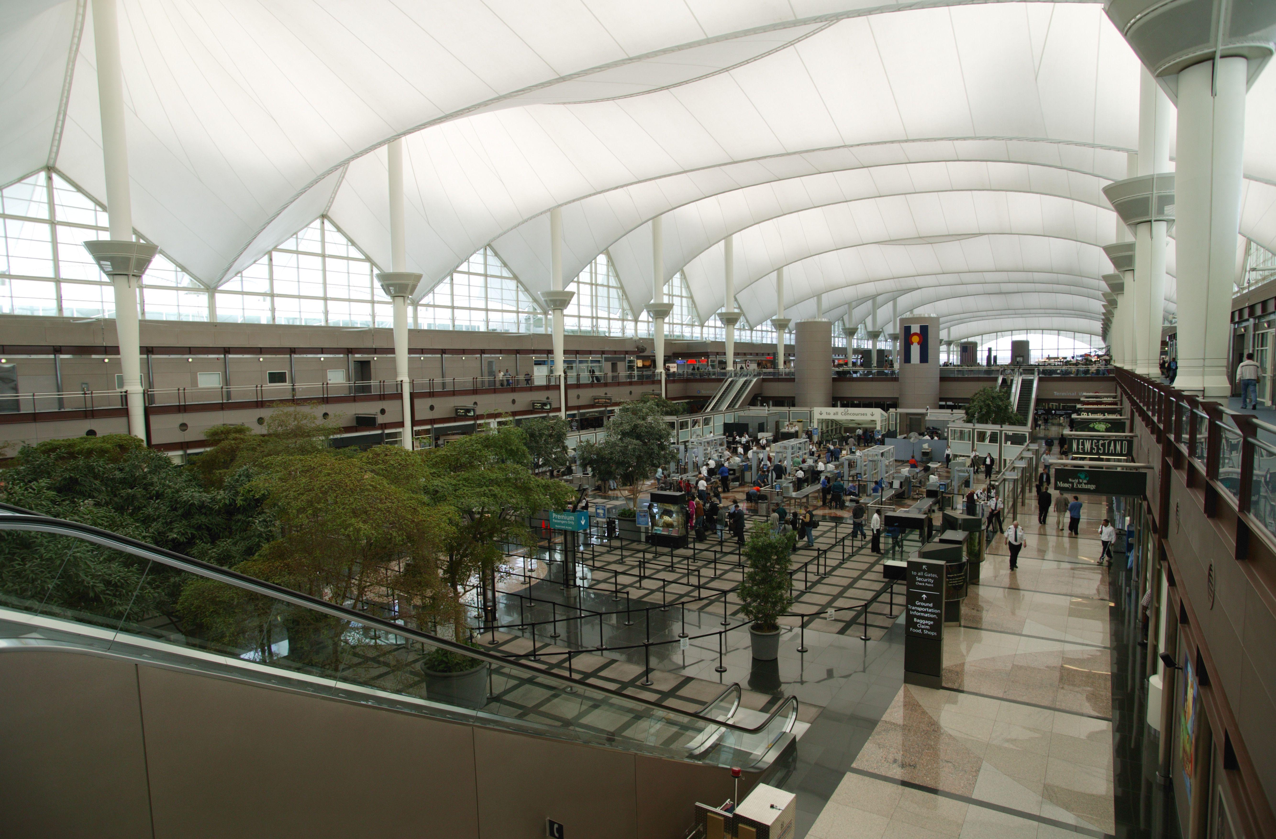 Interior of Denver International Airport, 1995 in Denver, Colorado