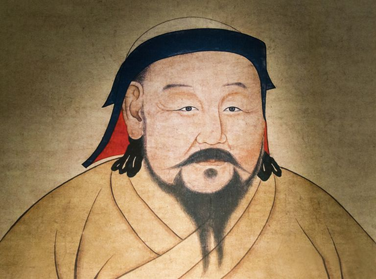 A painting of Kublai Khan