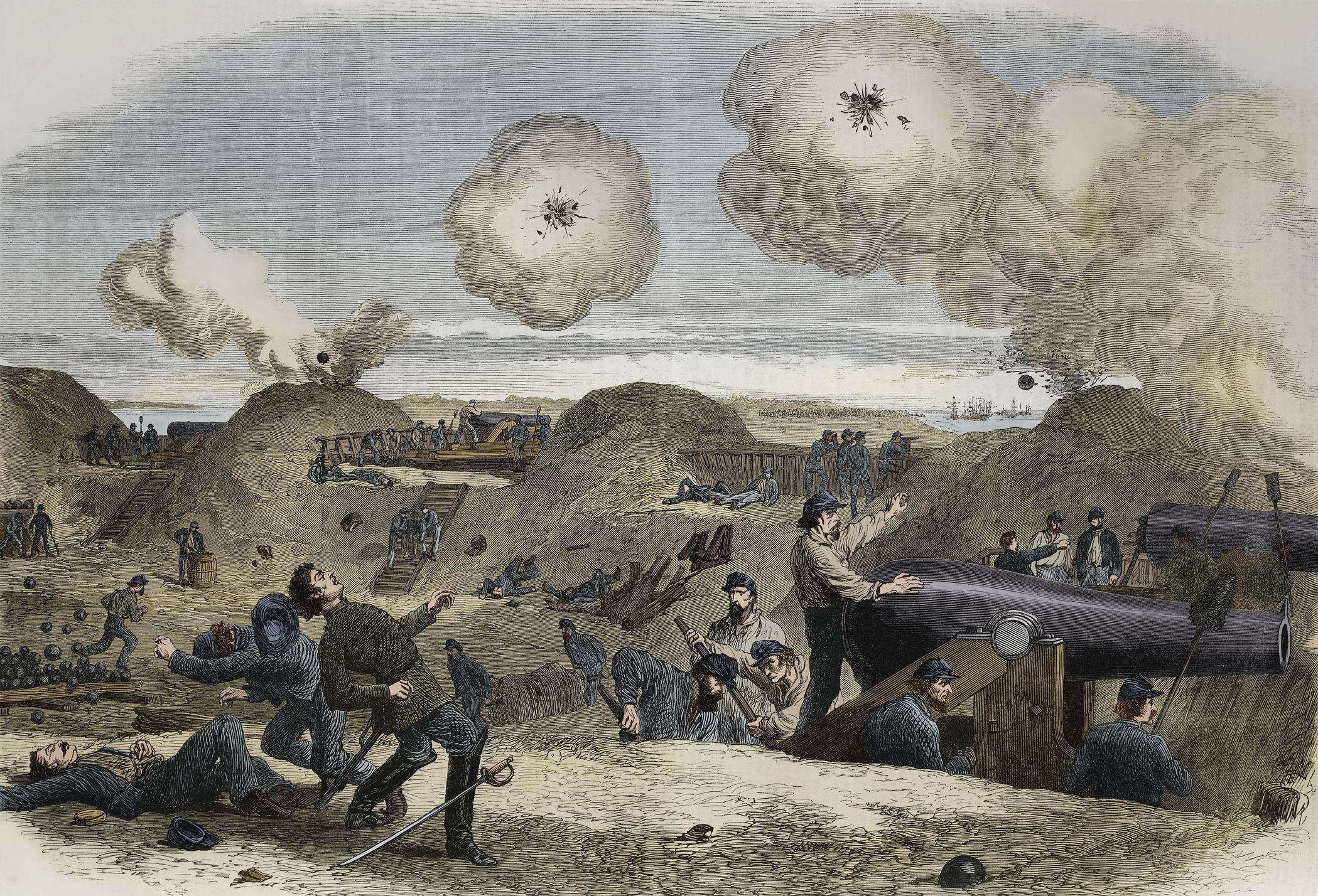 Bombardment of Fort Fisher, near Wilmington, New York, 1865