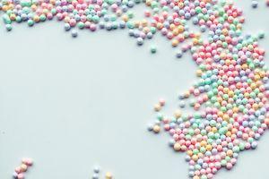 Colorful polystyrene foam.creativity concepts ideas