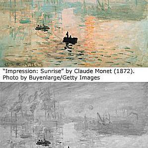 Famous paintings Impression Sunrise by Monet 1872