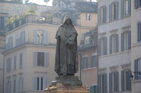A monument of Giordano Bruno in Rome