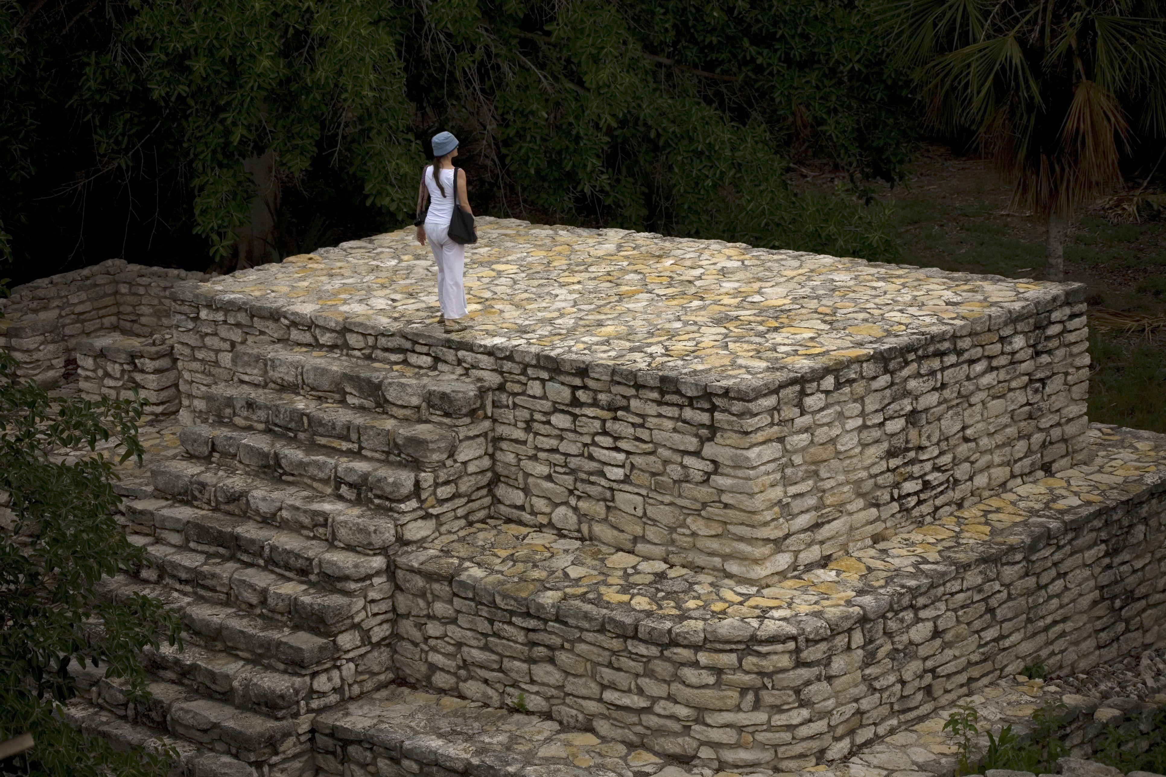 The Mayan ruins of Xcambo on Mexico's Yucatan peninsula