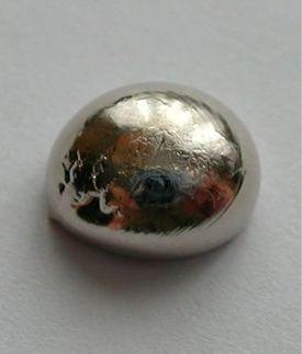 Palladium is a soft silvery-white metal.