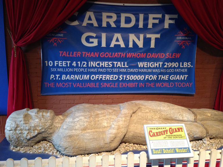 Cardiff Giant on display.