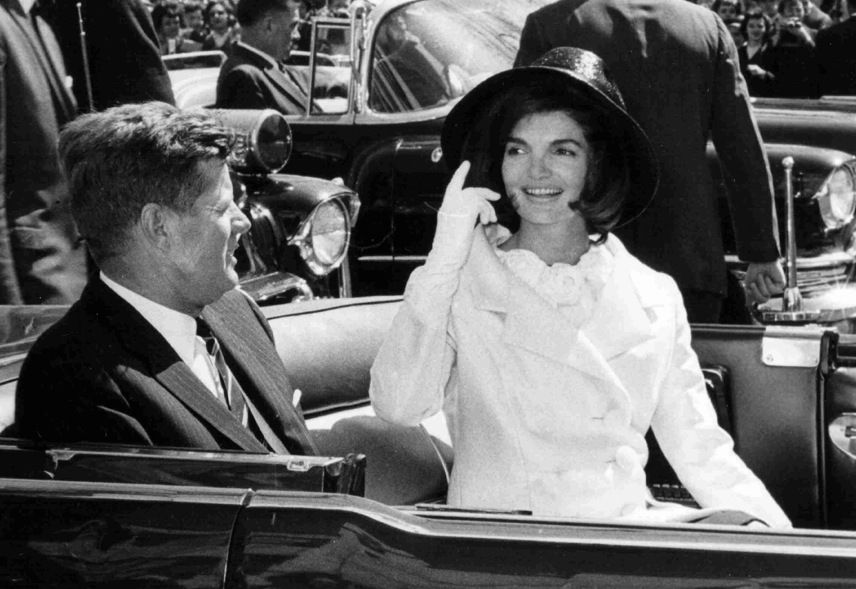 John and Jackie Kennedy in Washington Parade