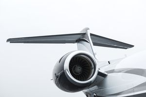 Tail and turbine engine of private jet